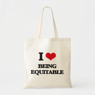 I love Being Equitable Canvas Bags