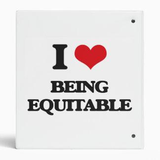 I love Being Equitable Vinyl Binders