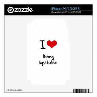 I love Being Equitable Decal For The iPhone 3GS
