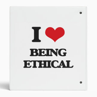 I love Being Ethical Binders