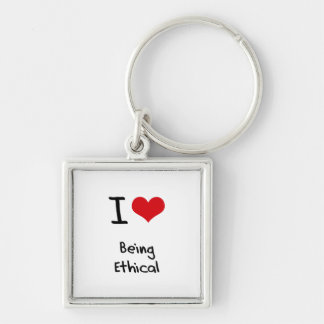 I love Being Ethical Keychain