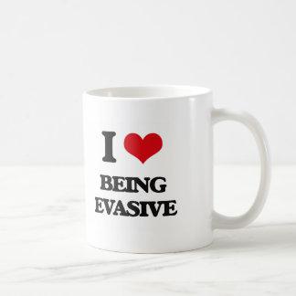 I love Being Evasive Classic White Coffee Mug