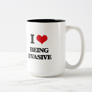 I love Being Evasive Two-Tone Coffee Mug