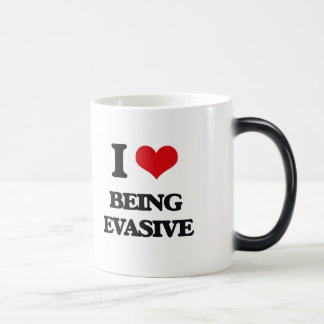 I love Being Evasive 11 Oz Magic Heat Color-Changing Coffee Mug