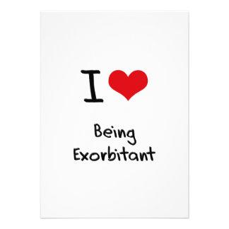 I love Being Exorbitant Custom Invitation