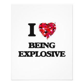 "I love Being Explosive 4.5"" X 5.6"" Flyer"