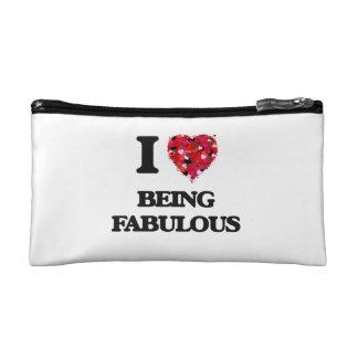 I Love Being Fabulous Makeup Bag