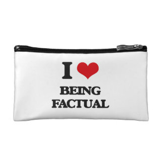 I Love Being Factual Makeup Bag