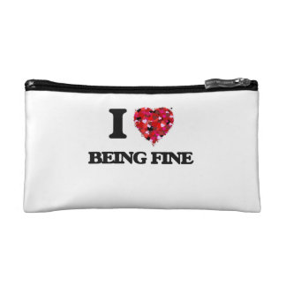 I Love Being Fine Cosmetics Bags