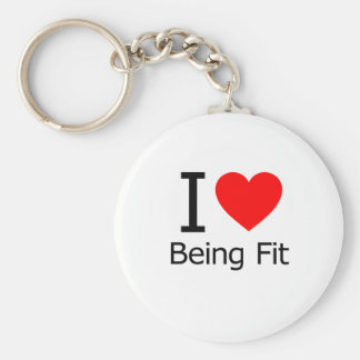 I Love Being Fit Keychain