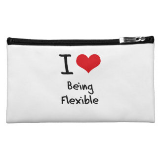 I Love Being Flexible Makeup Bags