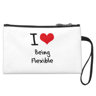 I Love Being Flexible Wristlet Purses