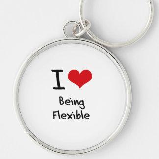 I Love Being Flexible Key Chain