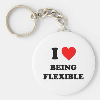 I Love Being Flexible Keychains