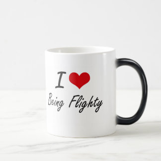 I Love Being Flighty Artistic Design 11 Oz Magic Heat Color-Changing Coffee Mug