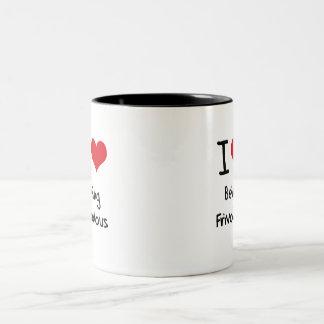 I Love Being Frivolous Two-Tone Coffee Mug