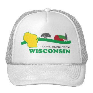 I love being from Wisconsin Trucker Hat Old School