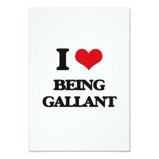 I Love Being Gallant Custom Announcement Card