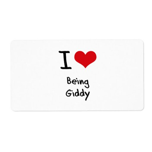 I Love Being Giddy Custom Shipping Label