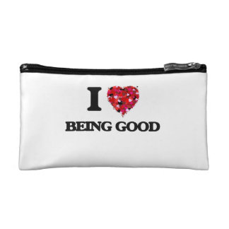 I Love Being Good Cosmetics Bags