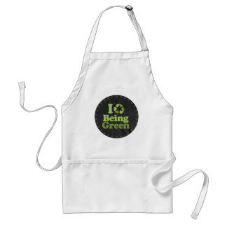I LOVE BEING GREEN ADULT APRON