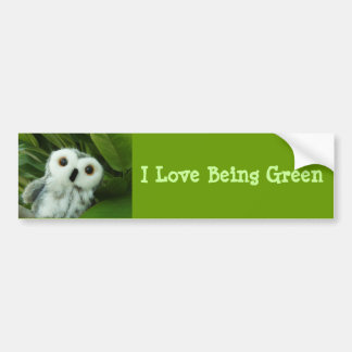 I Love Being Green Bumper Sticker