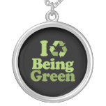 I LOVE BEING GREEN NECKLACE