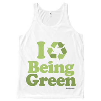 I LOVE BEING GREEN Politiclothes Humor -.png All-Over Print Tank Top