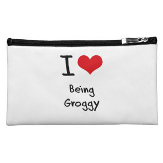 I Love Being Groggy Cosmetic Bags