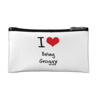 I Love Being Groggy Makeup Bags
