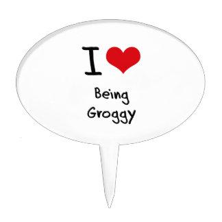 I Love Being Groggy Cake Pick