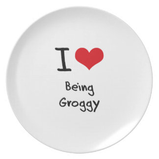 I Love Being Groggy Party Plate