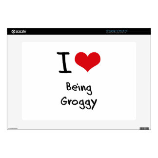 I Love Being Groggy Laptop Decal