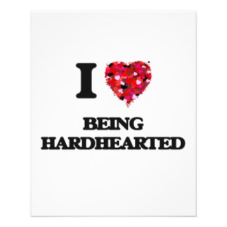 """I Love Being Hardhearted 4.5"""" X 5.6"""" Flyer"""