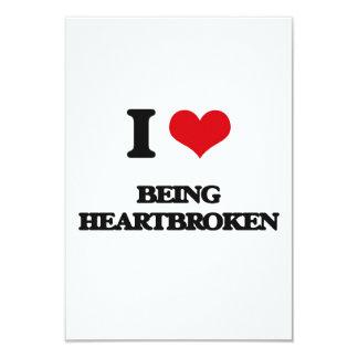 I Love Being Heartbroken 3.5x5 Paper Invitation Card