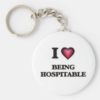I Love Being Hospitable Keychain