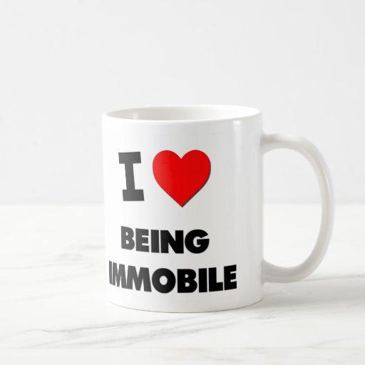 I Love Being Immobile Classic White Coffee Mug