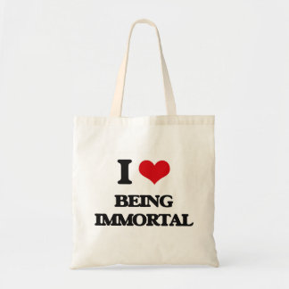 I Love Being Immortal Tote Bags
