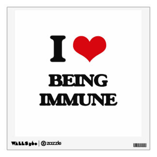 I Love Being Immune Room Decal