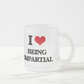 I Love Being Impartial 10 Oz Frosted Glass Coffee Mug
