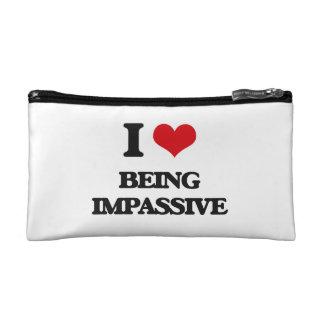 I Love Being Impassive Makeup Bags