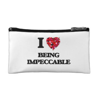I Love Being Impeccable Makeup Bag