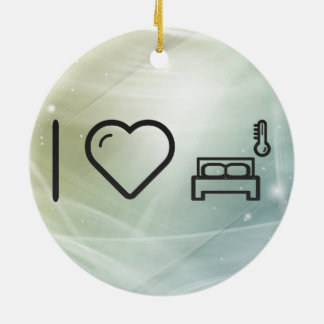 I Love Being Indoors Double-Sided Ceramic Round Christmas Ornament
