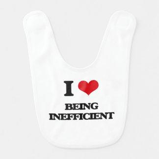 I Love Being Inefficient Bibs