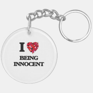 I Love Being Innocent Double-Sided Round Acrylic Keychain