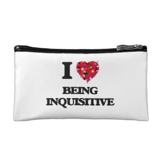 I Love Being Inquisitive Makeup Bags