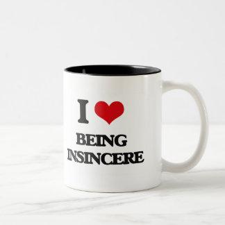 I Love Being Insincere Two-Tone Coffee Mug