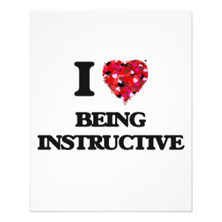 """I Love Being Instructive 4.5"""" X 5.6"""" Flyer"""