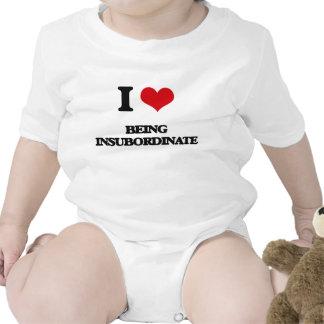 I Love Being Insubordinate Baby Bodysuits