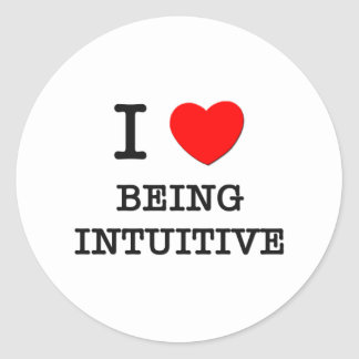 I Love Being Intuitive Classic Round Sticker